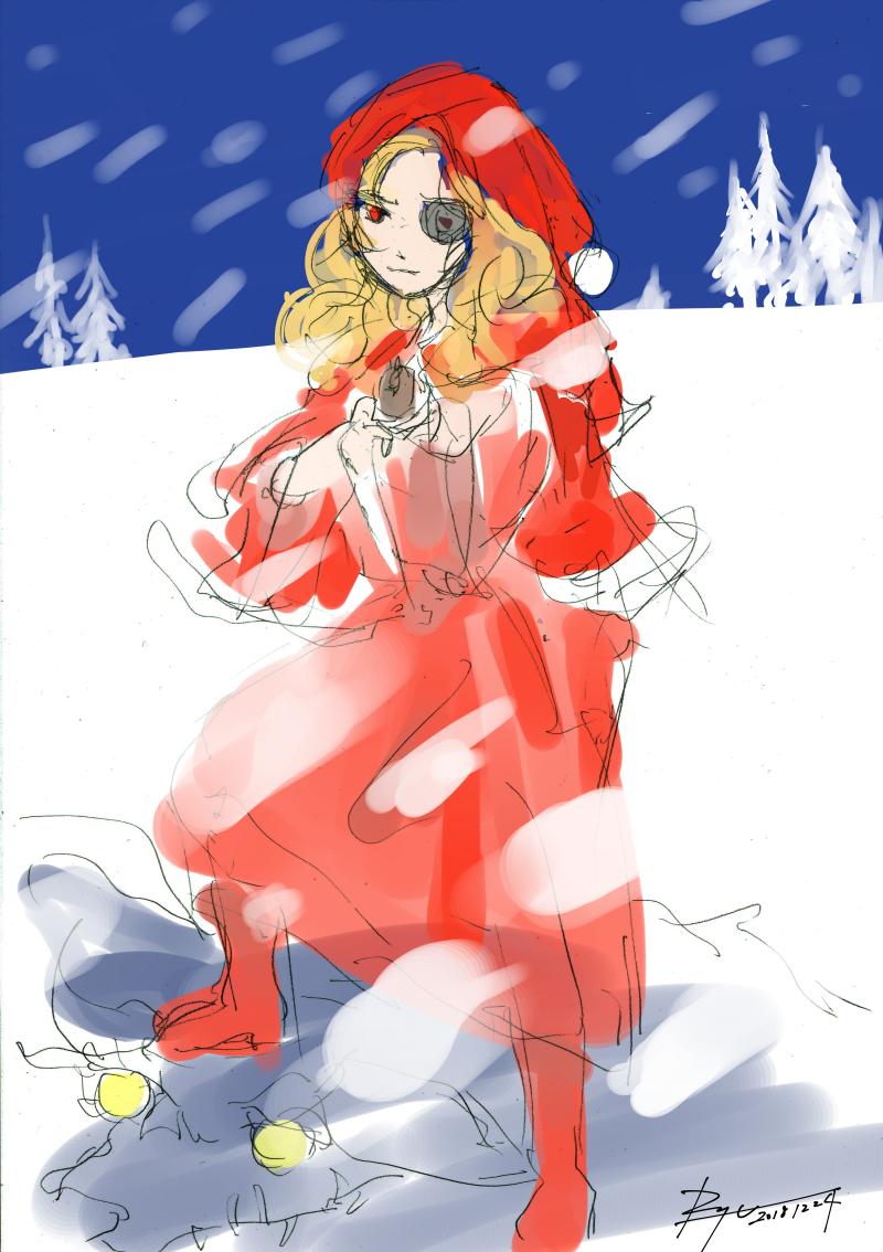 【落書き以前】赤ずきんちゃん:クリスマスバージョン